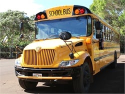 School bus companies in Hawaii restored one bus route and hired several more CDL-licensed drivers. They are temporarily offering hiring bonuses and increased wages. Photo courtesy Hawaii State Department of Education