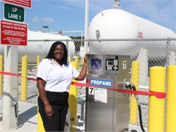 Hillsborough County Public Schools has installed a new propane fueling station for its growing fleet of propane buses.