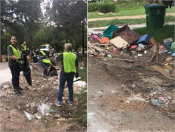 A dozen HR directors from Student Transportation of America spent a day picking up debris in a neighborhood that was flooded by Hurricane Harvey.