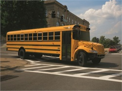 IC Bus' new gasoline school bus is part of its CE Series. A diesel CE model is seen here.