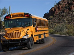 As Kingman Unified School District No. 20 students return to school, some ride buses without air conditioning in 100-plus degree heat. About one-third of the district's buses don't have air conditioning. File photo