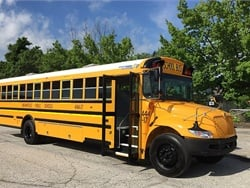 IC Bus has launched The Next Stop, a new initiative aimed at imagining the needs of the bus industry's future. Shown here is one of the manufacturer's CE Series propane-powered school buses.