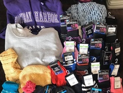 Ivy Corliss, a bus driver with Lewiston (Maine) Public Schools, is collecting hats, gloves, scarves, and other winter gear to help keep students warm during the colder months. Photo courtesy Ivy Corliss