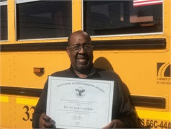 The Rev. Dr. James Carter Jr. of Educational Bus Transportation earned a President's Lifetime Achievement Award from President Obama before he left office.