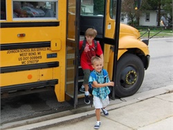 Family-owned Johnson School Bus Service in Wisconsin has been sold to Canada-based Landmark Student Transportation. Photo courtesy Judy Holzmann