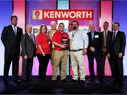 Representatives of NorCal Kenworth accept the TRP Bus Segment Dealer of the Year Award at the Anaheim 2016 PACCAR Parts and Kenworth Parts and Service Meeting. Photo courtesy Tony Kawashima