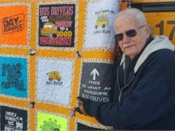 Larry Leverton of Lamers Bus Lines was one of seven drivers awarded for excellence at the Wisconsin School Bus Association (WSBA) convention on June 20. Leverton has been a school bus driver for more than 60 years and has only missed one day of work.