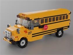 Dad Designs School Bus Lego Set