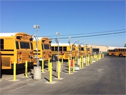 Lodi Unified School District's new CNG station fuels district buses and serves as a backup for other fleets in the area.