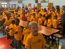 "The American School Bus Council launched its annual ""Love the Bus"" campaign at Orange County (Fla.) Public Schools on Feb. 4. Photo courtesy National School Transportation Association"