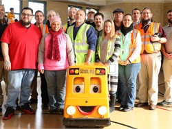 Some of the East Aurora (Ill.) School District 131 drivers were presented with a certificate of appreciation at the ASBC's Love the Bus event. Buster the Bus also made a special appearance.