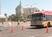 Operators, mechanics test skills at APTA's bus Roadeo