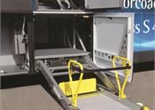 Space saving wheelchair lift