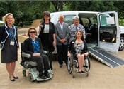 Mobility Ventures donates wheelchair-accessible MV-1 to Fort Worth charity