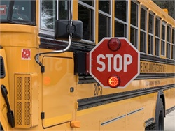 A bill in Maine would allow public school bus drivers to collect unemployment benefits during the summer and would award training grants to school districts. Shown here is a Maine School Administrative District 75 school bus.