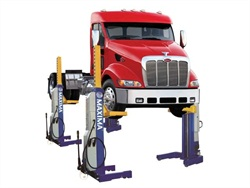 The new Maxima heavy duty lift models range in capacity from 66,000 to 111,000 pounds and are 24-volt battery powered.