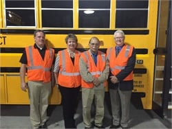 Ottumwa Mayor Tom X. Lazio (third from left) toured Durham's local facility. He was joined by (from left) Durham General Manager Jason Knowles, Chief Operating Officer Mary Leonard, and Region Manager Jeff Pearson.