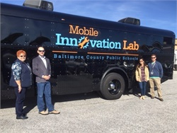 "Baltimore County Public Schools recently unveiled its Mobile Innovation Lab, a mobile classroom and ""makerspace"" built on a school bus. The lab helps students learn about coding, programming, robotics, and circuitry in a hands-on environment."