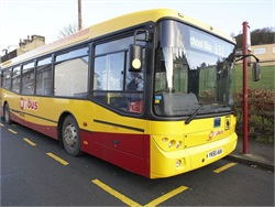 "More than 350,000 kids in the U.K. have lost their transportation entitlement since 2008, a new report from STC Ltd. shows. Seen here is a ""My bus"" school bus in West Yorkshire."