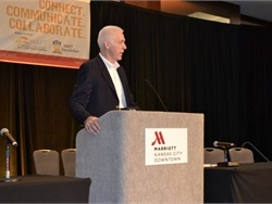 NAPT Conference and Trade Show scholarship deadlines are almost here. Shown here is Michael Martin, NAPT's executive director, speaking at the 2018 conference in Kansas City, Mo.