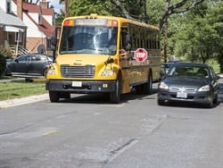 House Bill 1926 would allow school districts to install stop-arm cameras on school buses, and let law enforcement issue fines for bus passing violations. File photo courtesy NHTSA