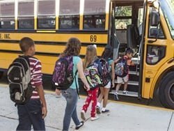 NHTSA's free School Bus Driver In-Service Curriculum is now completely online and mobile-friendly. It also now allows users to choose modules to supplement existing training and customize learning paths. Photo courtesy NHTSA