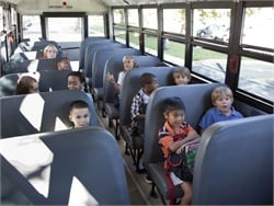 "In a new report, a Louisiana task force finds that ""compartmentalized seating and other occupant restraint usage … generally have met the safety needs of Louisiana's school bus passengers."" Stock photo by NHTSA"