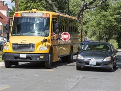 The New Jersey Senate has passed a bill that would permit school districts to contract with a private vendor for stop-arm violation monitoring systems on their school buses. Photo courtesy NHTSA