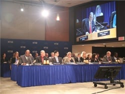 The National Transportation Safety Board (NTSB) held a meeting on Tuesday to address findings from the November 2016 school bus crashes in Baltimore, Maryland, and Chattanooga, Tennessee. Photo courtesy NTSB