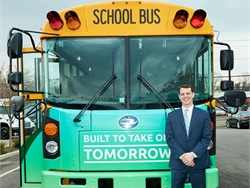 The New York State Bus Distributors Association (NYSBDA) says that funding is needed to ensure the state's school buses can again transport the state's students after the pandemic. Shown here is Robert Reichenbach, the association's president. Photo courtesy NYSBDA