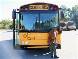 Nate Gordon, a bus driver for Worth County (Ga.) Schools, was recognized on Thursday for his 40 years of service. Photo courtesy Alisa Cooper