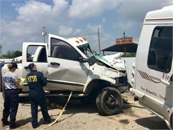 A total of 39,339 people died in accidents in all modes of transportation in 2016. Seen here is an NTSB crash investigation. NTSB photo by Jennifer Morrison