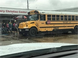 Many of the evacuees transported by the New Caney ISD team had physical disabilities and were in wheelchairs.