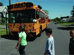 For New York's Operation Safe Stop Day, police and sheriff patrols are working with districts and contractors to protect children around school buses.