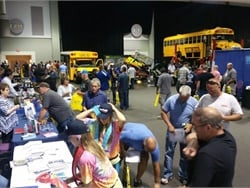 The New York State Head Mechanics Association's Summer Seminar will take place on July 25 in Syracuse. Shown here is the trade show floor at the association's summer seminar in 2016.