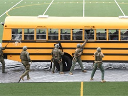 Threat response was the hot topic at the recent Oregon Pupil Transportation Association training event, which included a live demonstration with a SWAT team.