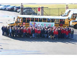 Ohio School Bus Team Gathers Goods for Families in Need