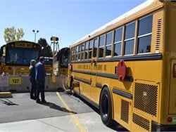 Before the demonstration, attendees visited Lee's Summit R-7 School District to check out its fleet, which includes many compressed natural gas (CNG) buses.