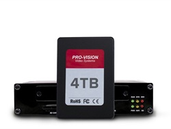 Pro-Vision increased the storage capabilities of its high-definition bus video recording system to 4 terabytes for over two years' worth of recording time.