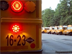 The Propane Research & Education Council now estimates that about 928,000 students ride propane school buses. File photo courtesy IC Bus