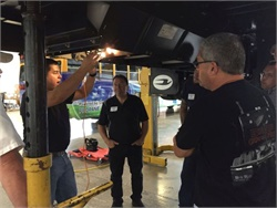 "Roush CleanTech is fielding inquiries about propane and other fuels in the new ""Got Questions?"" section of the SBF site. Seen here is a Roush propane technician training session."