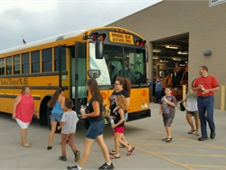 The Queen Creek (Ariz.) Unified School District invited parents, students, and other community members to attend an open house in its transportation department facilities on July 18.