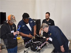 Roush CleanTech said that all vehicles powered by its propane fuel systems with Ford 6.8L 2V and 3V engines are covered under CARB HD-OBD certification. Seen here is a Roush technician training session.