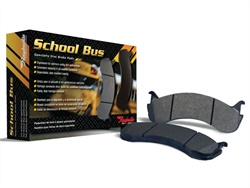 The Raybestos School Bus disc brake pads feature semi-metallic formulations designed for each school bus application, according to the supplier.