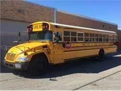 Funds from the EPA will go toward replacing two of Rocky River City School District's 2002 model year school buses. Seen here is one of the district's newest buses, a 2017 Blue Bird Vision.