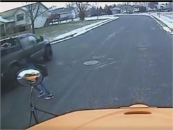 Mother Speaks Out After Daughter Nearly Struck at School Bus Stop