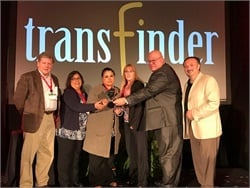 Humble (Texas) Independent School District won Transfinder's 2019 Ambassador of the Year award. Tony Civitella (right) presented the award to Steve Silence (second from right), the district's routing supervisor, and the rest of his team.
