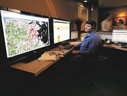 Telematics devices such as Zonar's V4, paired with Zonar's web-based platform, Ground Traffic Control (shown here), captures data that can improve preventive maintenance and inform purchasing. Photo courtesy of Zonar
