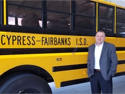 Bill Powell, president of the Texas Association for Pupil Transportation, says that some districts have had to adjust school bus routes and bell schedules, among other changes, in the wake of Hurricane Harvey.