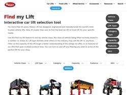 Digital Vehicle Lift Search Tool